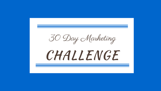 30 Day Marketing Challenge