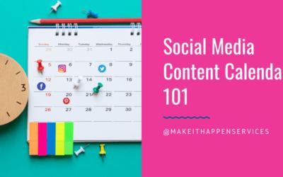 Social Media Content Calendar 101
